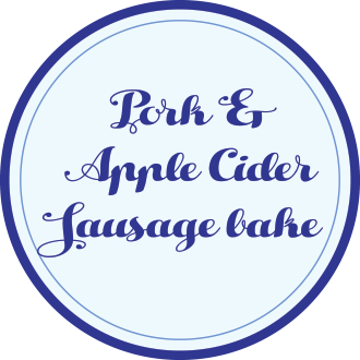 Pork and Apple Cider Sausage Bake